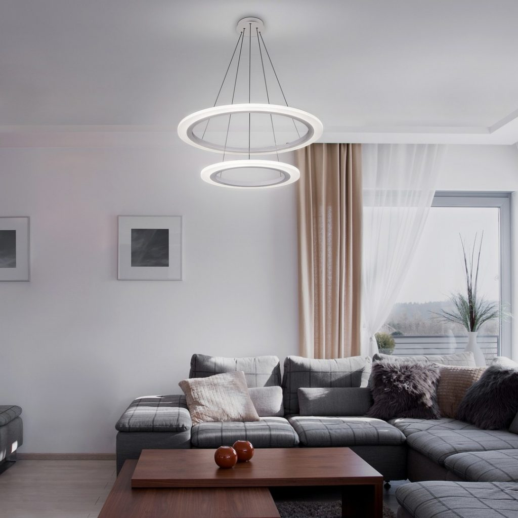 moderny led luster kruhy