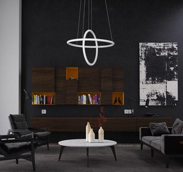 moderny led luster kruhy top trendy osvetlenia