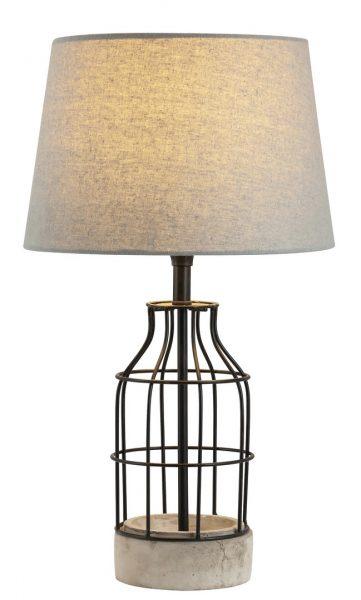 betonova stolova lampa