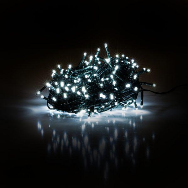 Vianočné osvetlenie 600 LED - studená biela sveteľná reťaz 11m - RXL 288