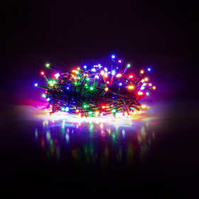 Vianočné osvetlenie 300 LED - farebná svetelná reťaz IP44 30+5m, časovač RXL 215
