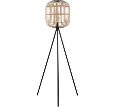 drevena stojanova lampa