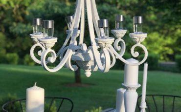 ako si vyrobiť solárny luster do záhrady